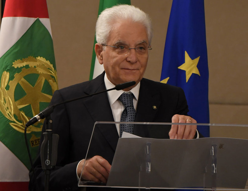 Prezydent Włoch Sergio Mattarella /ANDREAS SOLARO /AFP