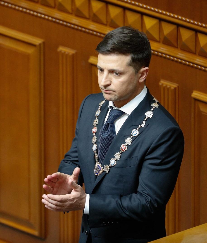 """Prezydent Wołodymir Zełenski zapowiedział program """"Wracaj i pozostań"""" /SERGEY DOLZHENKO /PAP/EPA"""