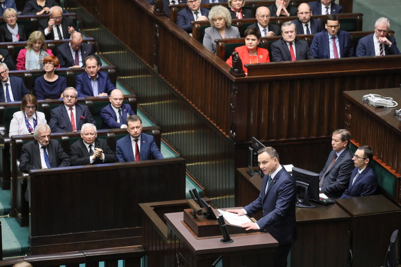 Prezydent wygłasza orędzie /Paweł Supernak /PAP