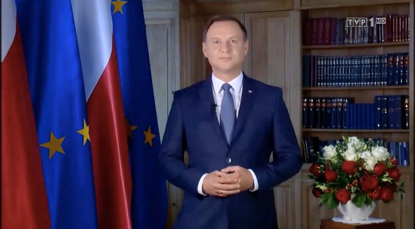 Prezydent wygłosił orędzie, w którym poinformował o swojej decyzji ws. referendum /Krystian Maj /Agencja FORUM