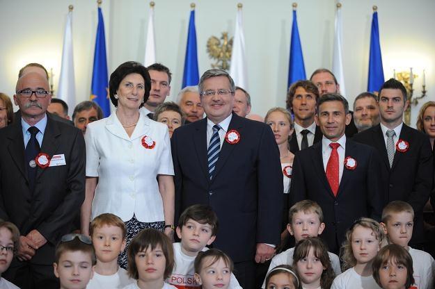 Prezydent ze sportowcami w Pałacu Prezydenckim / fot. J. Turczyk /PAP