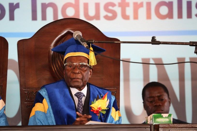 Prezydent Zimbabwe Robert Mugabe /AARON UFUMELI /PAP/EPA