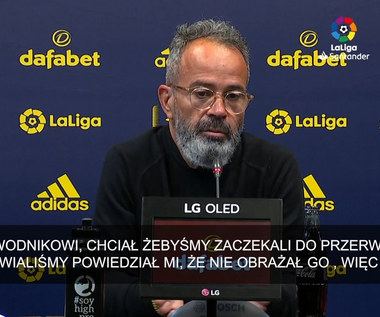 Primera Division. Trener Alvaro Cervera: Cala powiedział mi, że go nie obraził. Wideo
