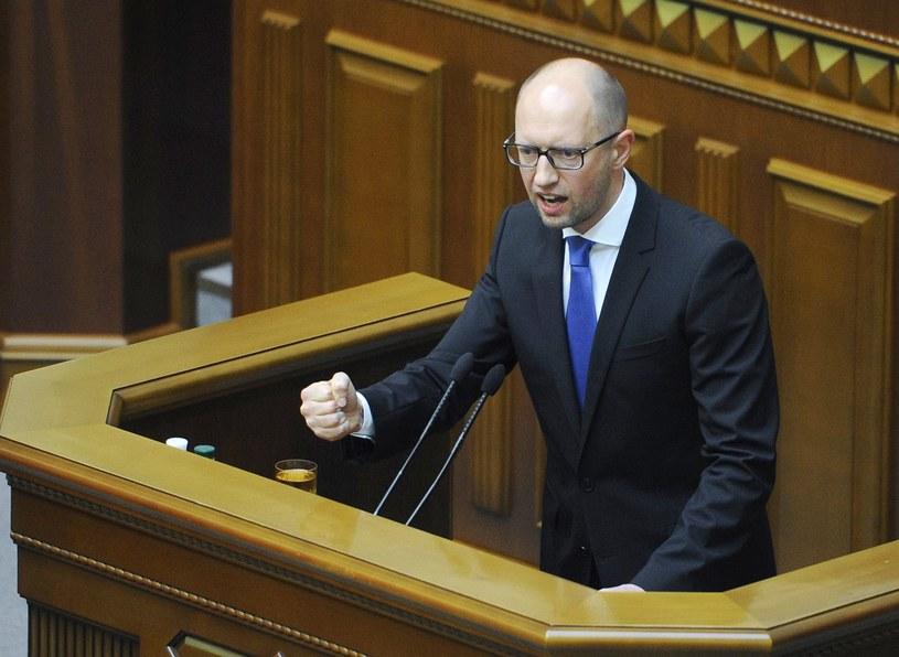 Prmier Ukrainy Arsenij Jaceniuk podał się dziś do dymisji /AFP