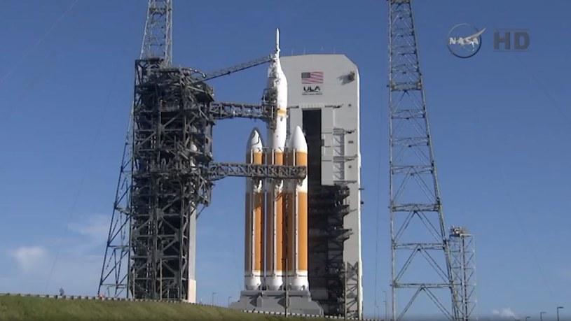 Problemy z zaworami zbiorników ciekłego wodoru w rakiecie Delta IV były powodem wstrzymania startu. Fot. NASA /materiały prasowe