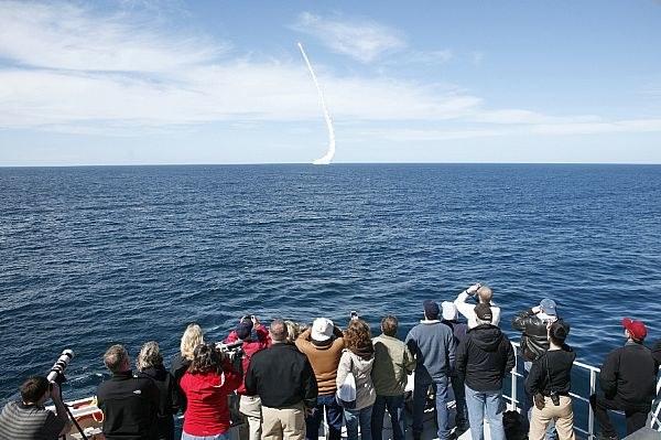 Próbne odpalenie rakiety balistycznej Trident II D5. Fot. US Navy. /materiały prasowe
