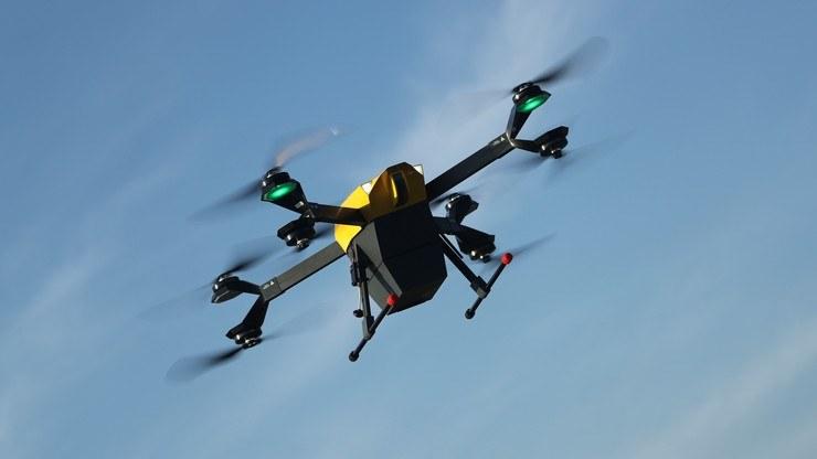 Próbne przeloty dronów na trasie między Stadionem Narodowym a szpitalem MSWiA mają rozpocząć się w przyszłym tygodniu /Spartaqs /materiały prasowe
