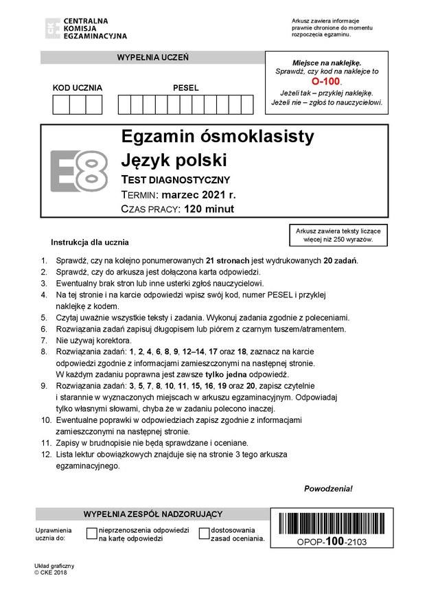 Próbny egzamin ósmoklasisty 2021 /