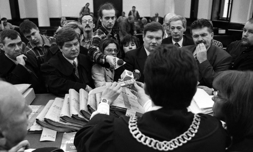 Proces domniemanych zabojców Piotra Jaroszewicza i jego żony Alicji Solskiej (1997 r.) /Michal Sadowski /Agencja FORUM