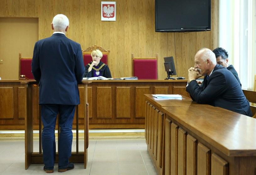 Proces ws. spoliczkowania Michała Boniego przez Janusza Korwin-Mikkego /STANISLAW KOWALCZUK /East News