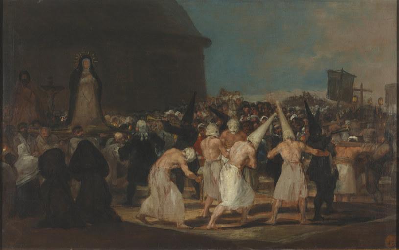 Procesja biczowników - autorem obrazu jest Francisco Goya /domena publiczna
