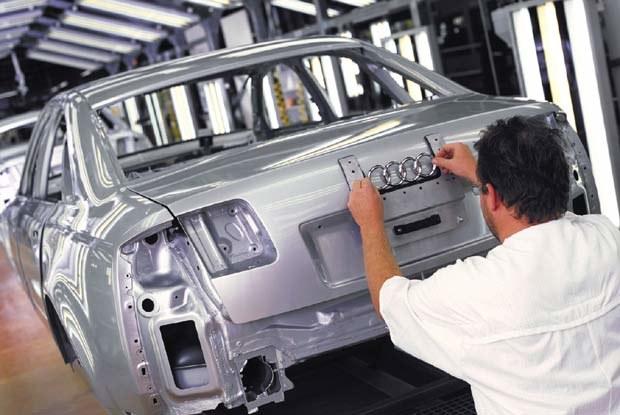 Produkcja Audi A8 w Neckarsulm (kliknij) /INTERIA.PL