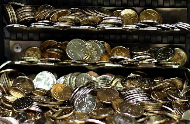 Produkcja monet 1-groszowych w Mennicy Polskiej, fot. Bartosz Krupa /Agencja SE/East News