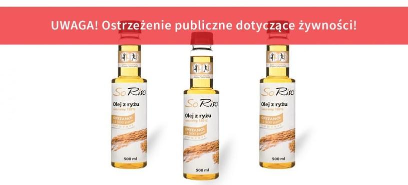 Produkt należy uznać za niebezpieczny dla zdrowia konsumentów /gis.gov.pl /