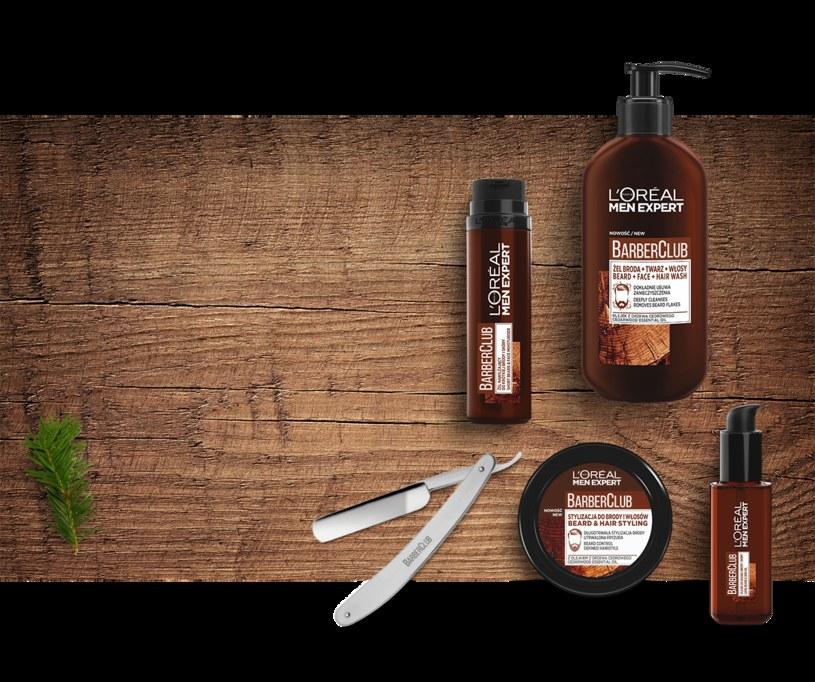 Produkty L'Oréal Men Expert Barber Club /materiały promocyjne