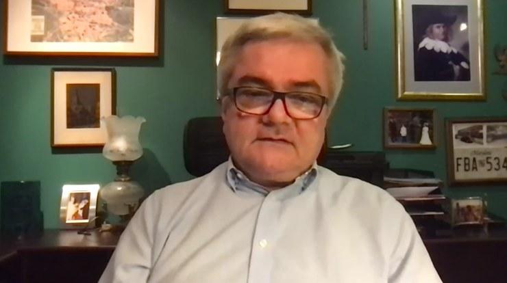 """Prof. Andrzej Fal w programie """"Gość Wydarzeń"""" /Polsat News"""
