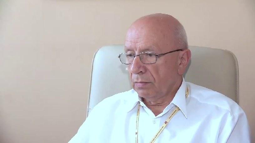 Prof. Bogdan Chazan, Dyrektor Szpitala Specjalistycznego im. Świętej Rodziny /TVN24/x-news