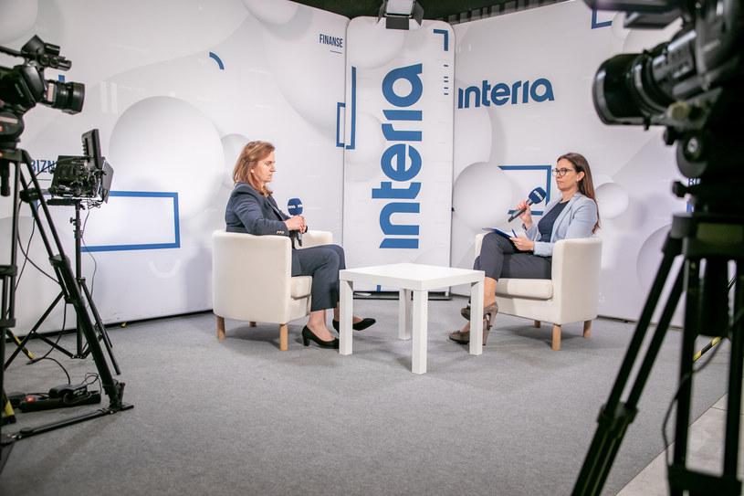 Prof. Gertruda Uścińska, prezes ZUS w studiu Interii /Fot. Ireneusz Rek /INTERIA.PL