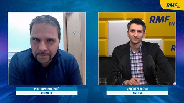 Prof. Krzysztof Pyrć był gościem Marcina Zaborskiego /Jakub Rutka /RMF FM