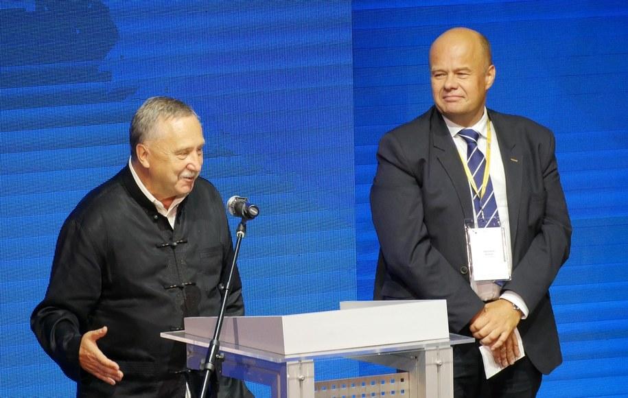 Prof. Wacław Marzantowicz (po lewej) i prof. Zbigniew Błocki /Grzegorz Jasiński /RMF FM