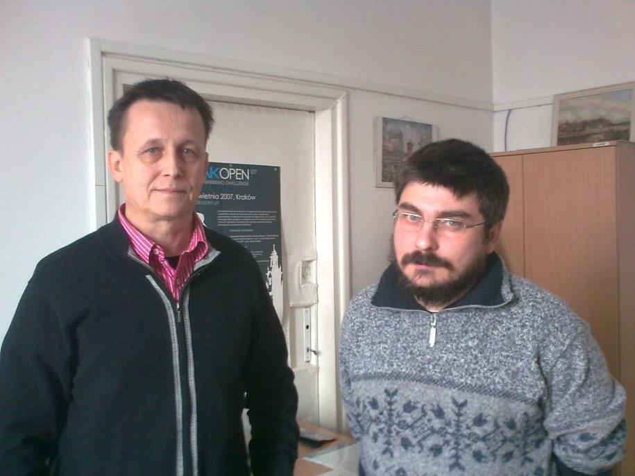 Prof. Witold Dzwinel i dr Paweł Topa z Katedry Informatyki AGH  /Grzeorz Jasiński /RMF FM