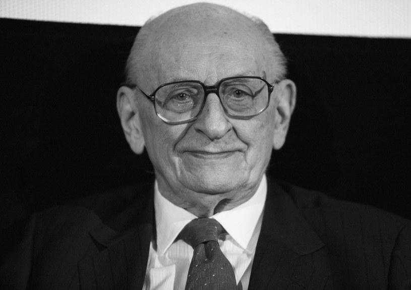 Prof. Władysław Bartoszewski /Andrzej Hulimka/Reporter /Reporter