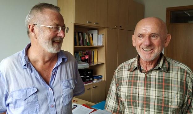 Prof. Wojciech Kucharz z Uniwersytetu Jagiellońskiego i prof. Jacek Bochnak z Vrije Universiteit Amsterdam /Grzegorz Jasiński /RMF FM