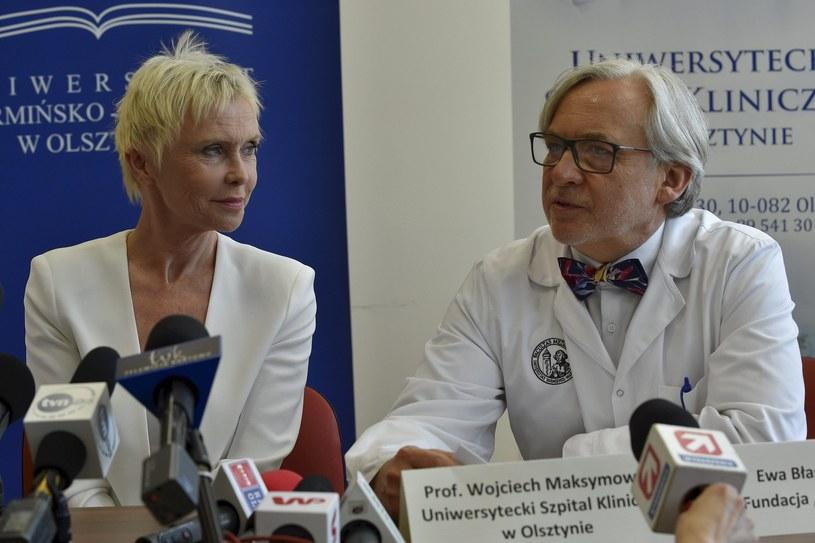 Prof. Wojciech Maksymowicz i Ewa Blaszczyk /Piotr Placzkowski /Reporter