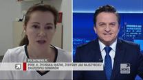"""Prof. Życińska w """"Gościu Wydarzeń"""": Koniec pandemii bliższy, gdy będziemy zaszczepieni w dużym odsetku"""