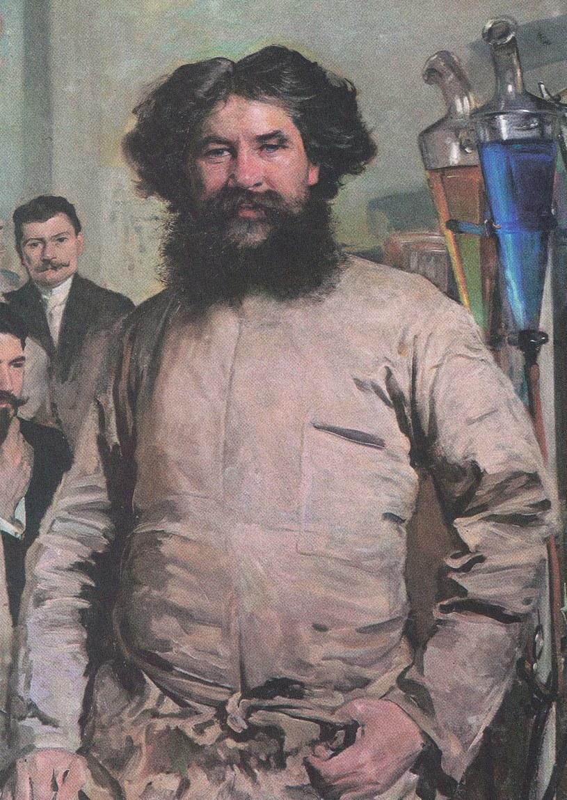 Profesor Ludwik Rydygier i asystenci na obrazie Leona Wyczółkowskiego z 1897 roku /Reprodukcja: FoKa /Agencja FORUM
