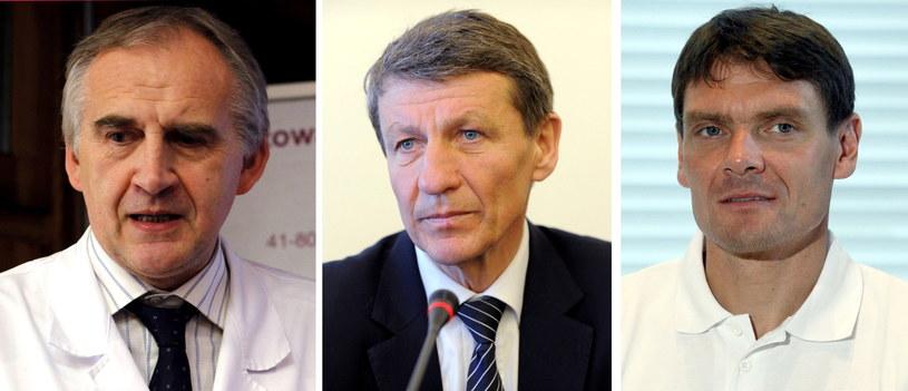 Profesor Marian Zembala,  Andrzej Czerwiński i Adam Korol /PAP