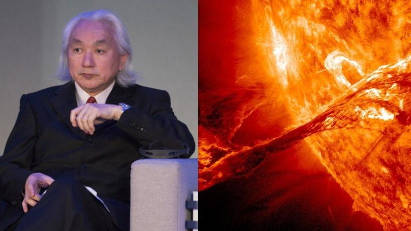 Profesor Michio Kaku przestrzega przed rozbłyskiem słonecznym /AFP