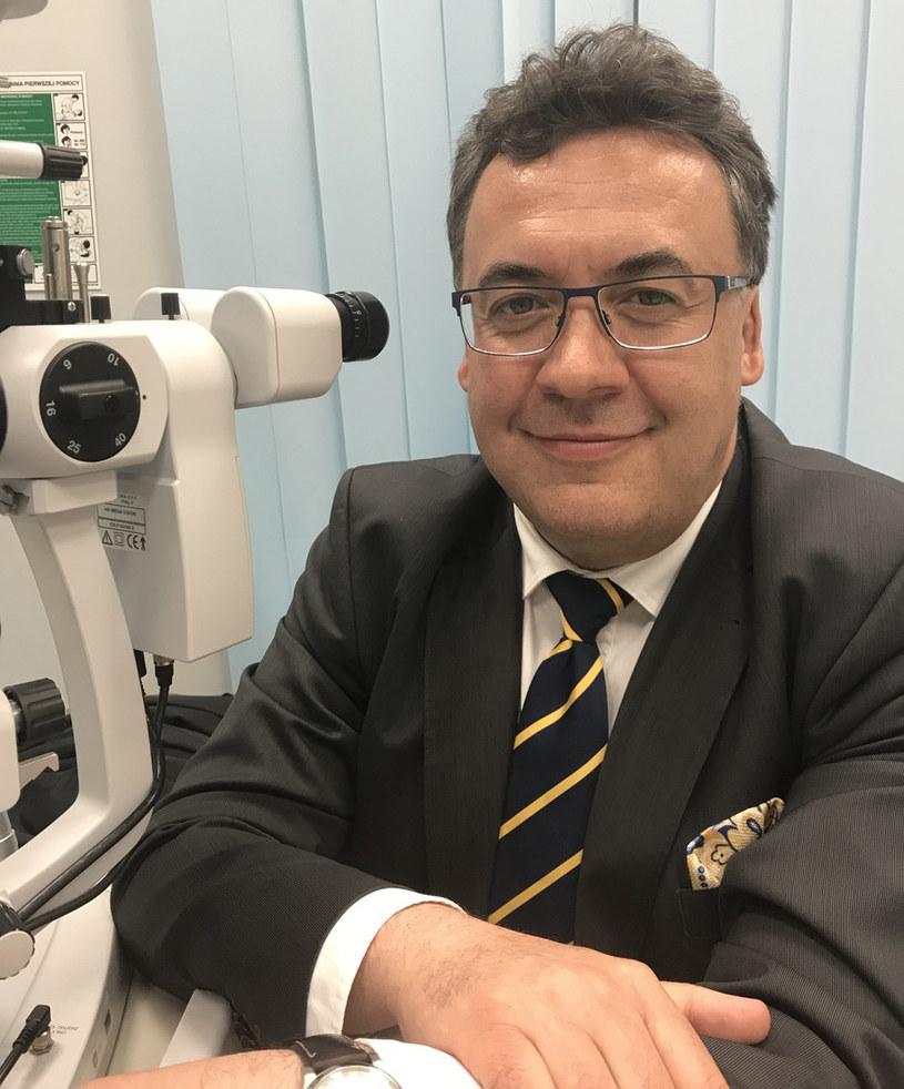 Profesor Robert Rejdak z Uniwersytetu Medycznego w Lublinie. Fot. Krzysztof Kot RMF FM /RMF24
