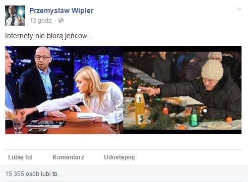 Profil Przemysława Wiplera na Facebooku /Facebook