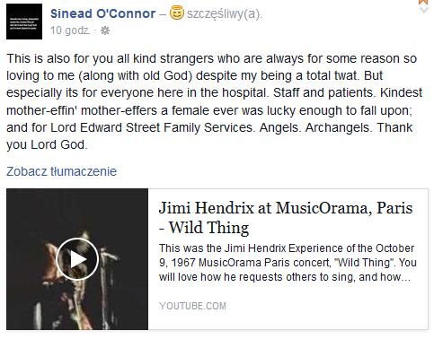 Profil Sinead O'Connor na Facebooku został przywrócony /Facebook /