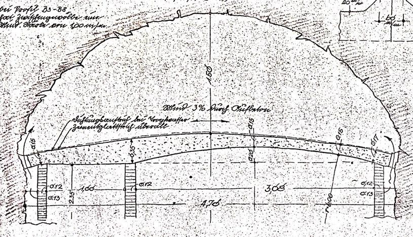 """Profil sztolni specjalnej """"S"""" o szerokości  4,70 m (Akta Dorscha - D - 430c) /Odkrywca"""