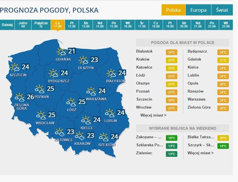 Prognoza - 11 czerwca /INTERIA.PL