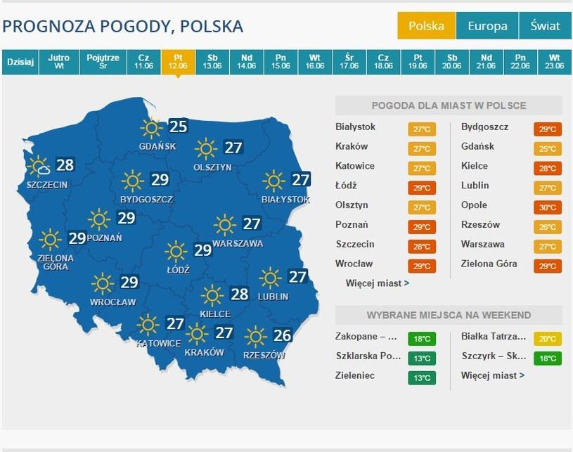 Prognoza - 12 czerwca /INTERIA.PL