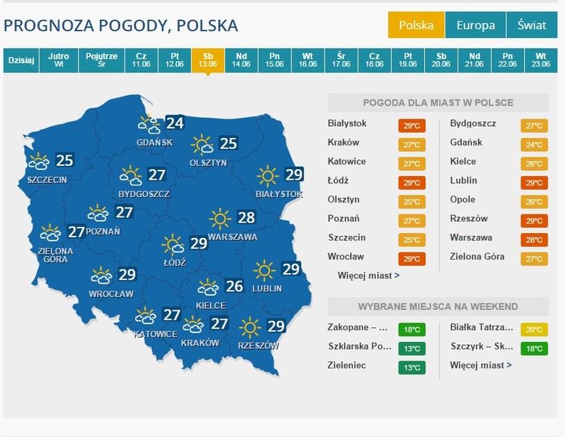 Prognoza - 13 czerwca /INTERIA.PL