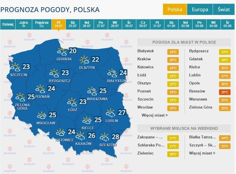 Prognoza na 24 lipca /INTERIA.PL