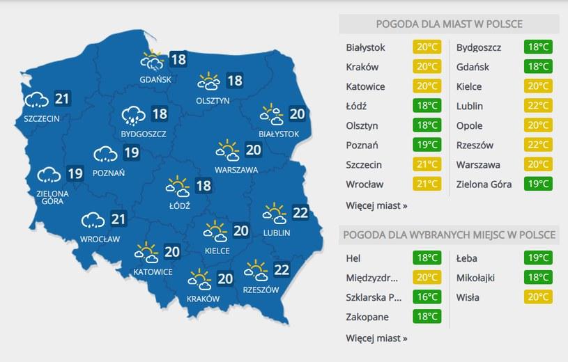Prognoza na czwartek, 3 września /INTERIA.PL