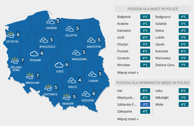 Prognoza na drugi dzień świąt /Interia.pl /