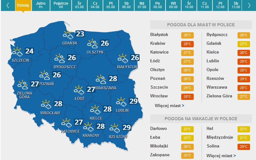 Prognoza na niedzielę /pogoda.interia.pl /INTERIA.PL