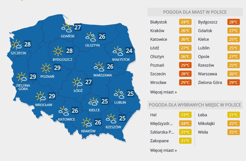 Prognoza pogody, 4 lipca 2018 r. /INTERIA.PL