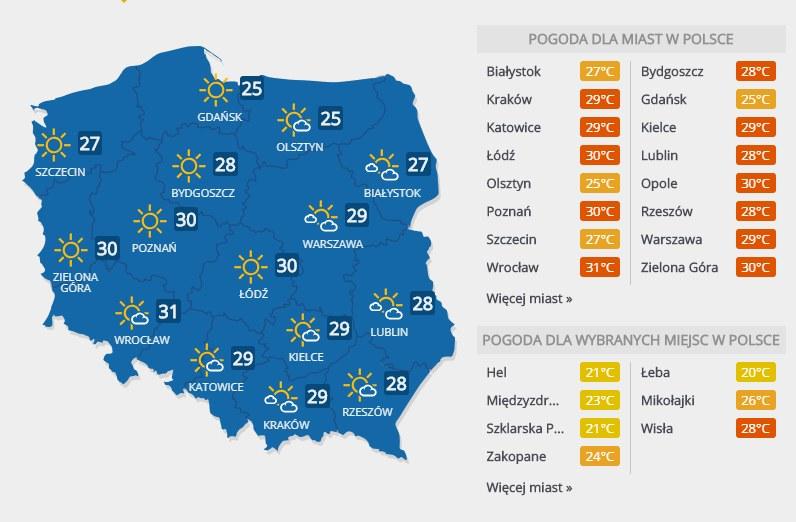Prognoza pogody, 5 lipca 2018 r. /INTERIA.PL
