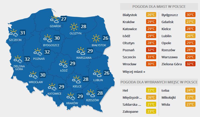 Prognoza pogody na 1 czerwca /INTERIA.PL