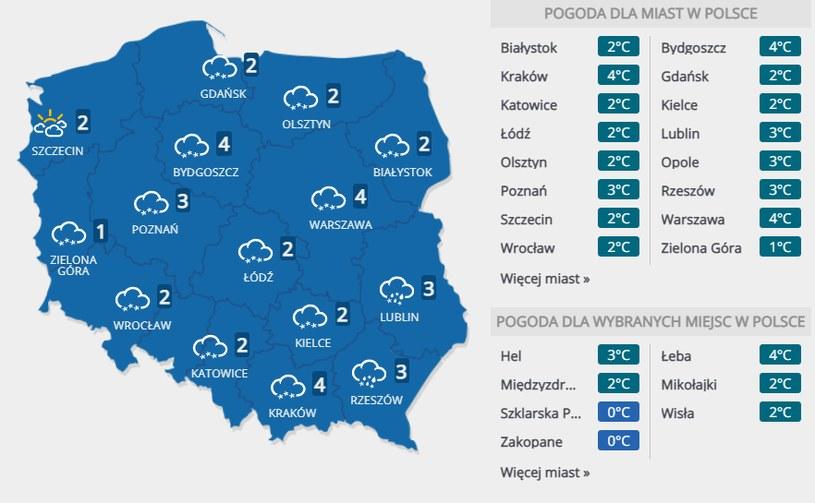 Prognoza pogody na 25 grudnia /INTERIA.PL