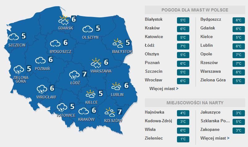 Prognoza pogody na drugi dzień świąt /INTERIA.PL