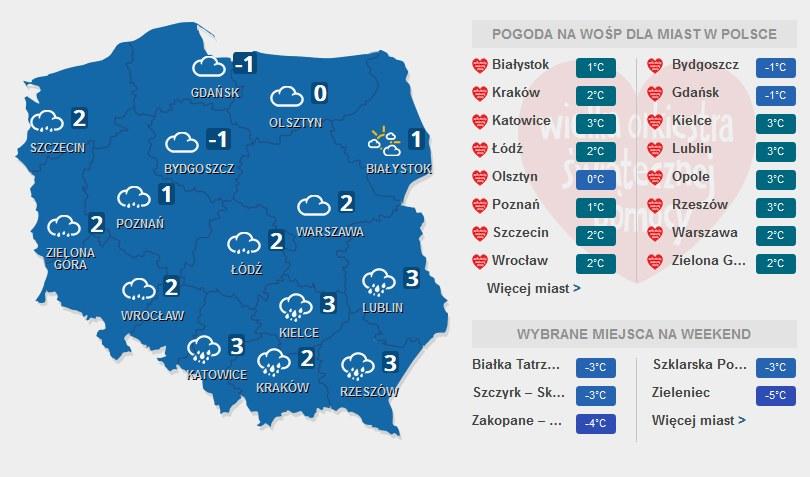 Prognoza pogody na niedzielę, 10.01.2016 /INTERIA.PL