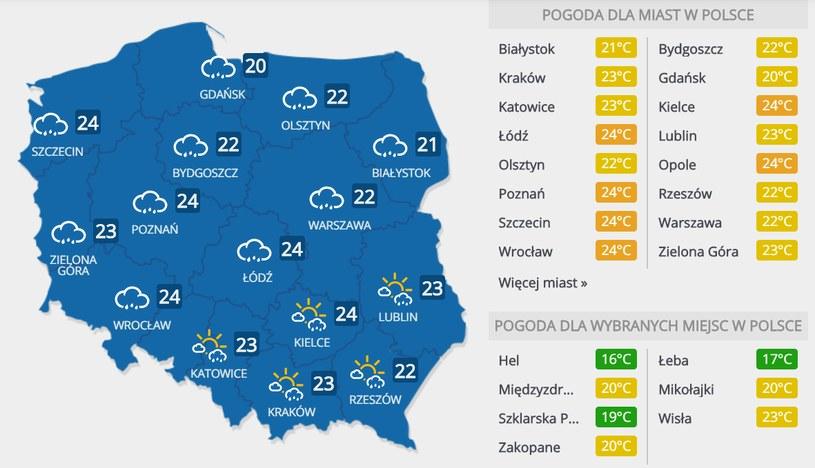 Prognoza pogody na niedzielę, 10 maja /INTERIA.PL
